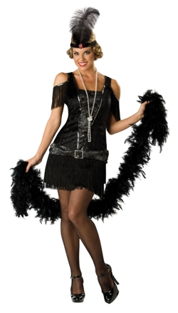 Flapper / Charleston / 1920s - black