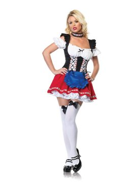 Oktoberfest Girl - red skirt
